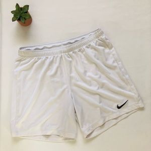 Nike White Shorts medium